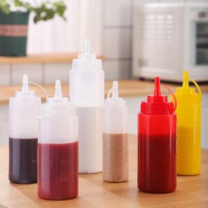 Disposable sauce bottle